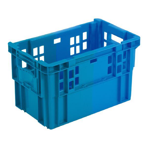 (業務用10個セット)三甲(サンコー) SNコンテナ/2色コンテナボックス 【Cタイプ】 #29 FC-K ブルー×ブルー 【代引不可】