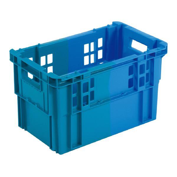(業務用10個セット)三甲(サンコー) SNコンテナ/2色コンテナボックス 【Cタイプ】 #29 FC-H ブルー×ブルー 【代引不可】