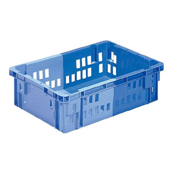 (業務用10個セット)三甲(サンコー) SNコンテナ/2色コンテナボックス 【Cタイプ】 #23T ブルー×ライトブルー 【代引不可】