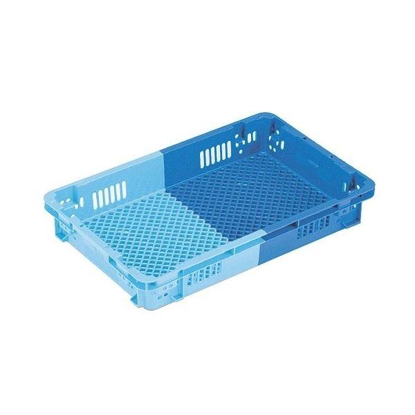 【5個セット】 業務用コンテナボックス/食品用コンテナー 【NF-M33浅】 ダークブルー/ブルー 材質:PP【代引不可】