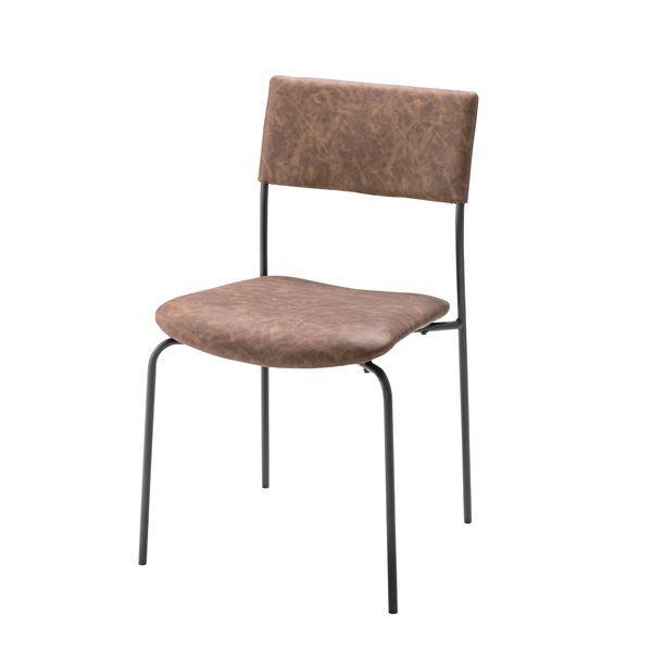 リビングチェア リビング用 応接チェア /ダイニングチェア ダイニング用チェア イス 食卓 椅子 【肘無し】 金属 スチール フレーム 張地:合成皮革/合皮 フェイクレザー TEC-61