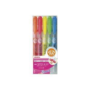 (業務用100セット) ZEBRA ゼブラ 蛍光ペン 蛍光オプテックス1 EZ 【5色セット】 つめ替え式 WKS11-5C
