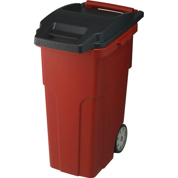可動式 ゴミ箱/キャスターペール 【45C4 4輪】 レッド フタ付き 〔家庭用品 掃除用品〕【代引不可】
