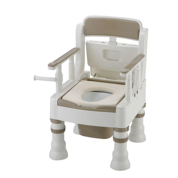 リッチェル 樹脂製ポータブルトイレ ポータブルトイレきらくミニでか(3)MY型アイボリー 45611 乳白色