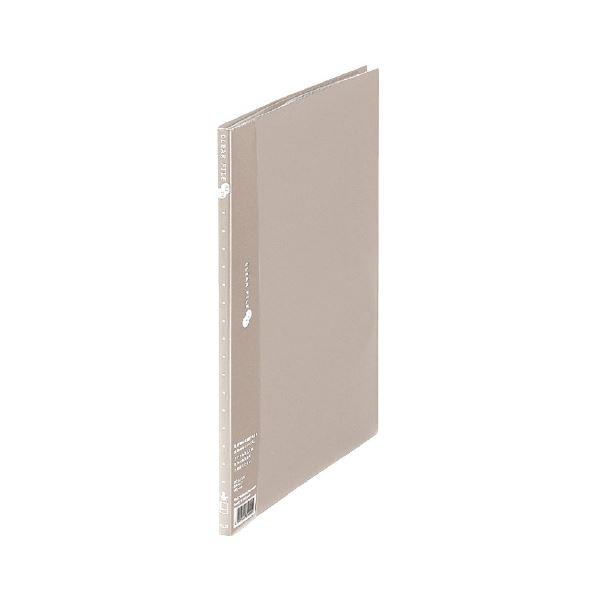 【送料無料】(業務用10セット) プラス クリアーファイル10P FC-121EL A4S 灰 10冊