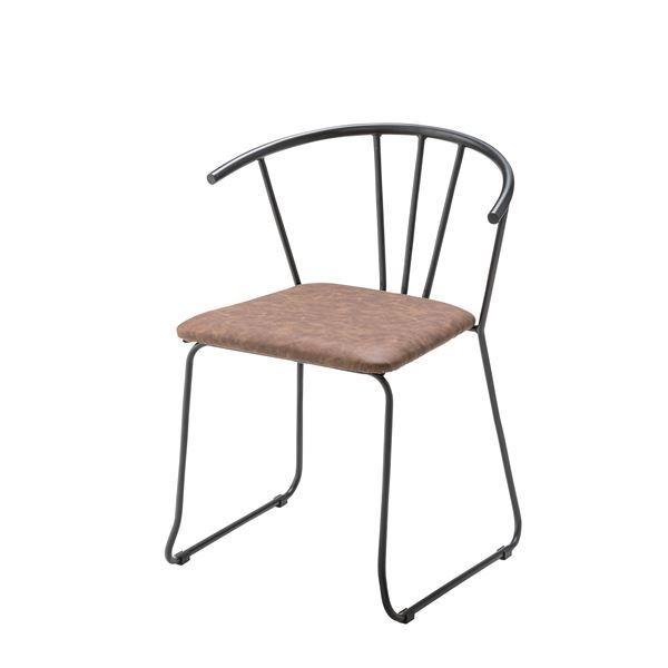 アームチェア (イス 椅子) /リビングチェア リビング用 応接チェア イス 椅子 【肘付き】 金属 スチール フレーム ソフトレザー TEC-64 〔インテリア家具 ディスプレイ用品〕