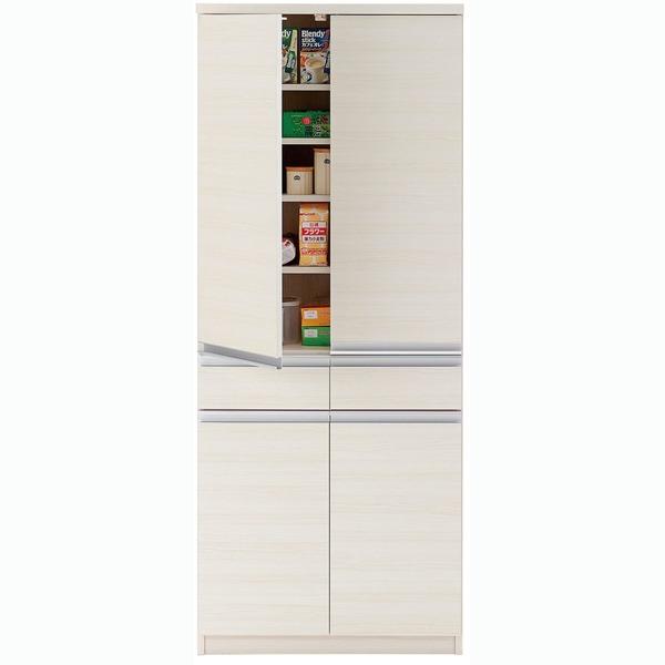 【送料無料】フナモコ キッチン・台所ストッカー 【幅73.2×高さ180cm】 ホワイトウッド EKS-73T( ホワイト 白 )