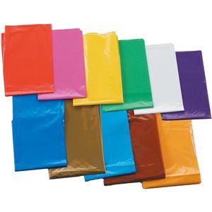 (まとめ) 茶 カラービニール袋(10枚組) 【×15セット】
