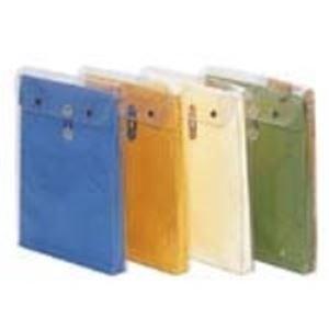 (業務用100セット) うずまき ビニールパッカー(書類保存封筒) ニ-301 角2 ブルー 青