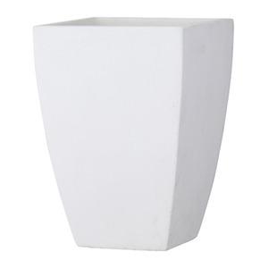ファイバークレイ製 軽量植木鉢 バスク スクエアー 35cm ホワイト 白