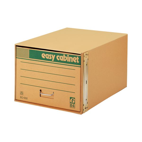(まとめ) ゼネラル イージーキャビネット 整理 収納 シェルフ 戸棚 エコ普及型 金具脱着式 B4用 内寸W390×D560×H295mm EC-002 1個 【×2セット】
