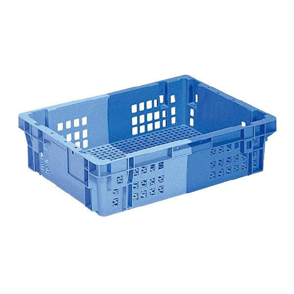 (業務用10個セット)三甲(サンコー) SNコンテナ/2色コンテナボックス 【Cタイプ】 #26L ブルー×ライトブルー 青