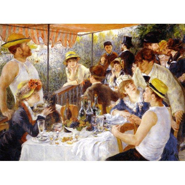 世界の名画シリーズ、プリハード複製画 ピエール・オーギュスト・ルノアール作 「舟遊びをする人々の昼食」