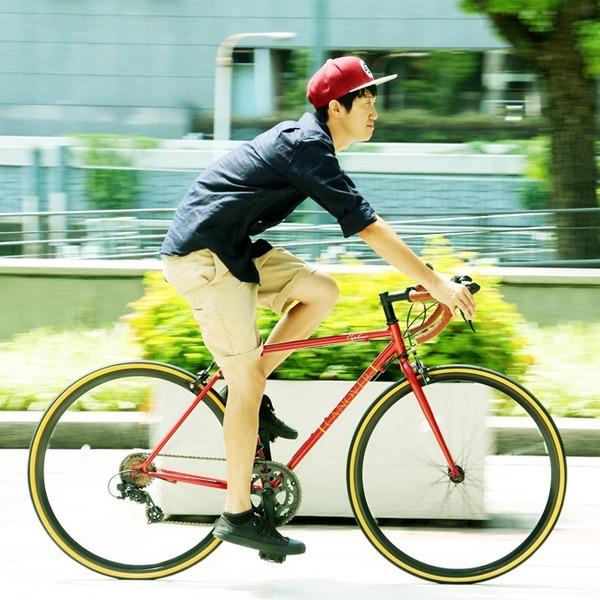 ロードバイク 700c(約28インチ)/レッド(赤) シマノ14段変速 軽量 重さ11.5kg 【ORPHEUS】 オルフェウスCAR-013【代引不可】