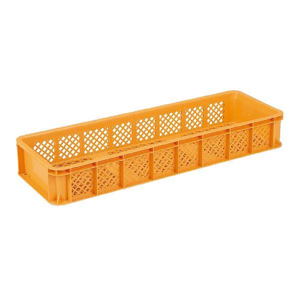 (業務用8個セット)三甲(サンコー) 全面網目コンテナボックス/サンテナー スタッキング可 B55-3 オレンジ