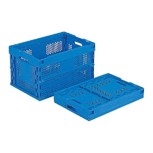 単品 (業務用5個)三甲(サンコー) 折りたたみコンテナボックス/オリコン 50A-K ブルー(青) 【フタ別売り 】 青