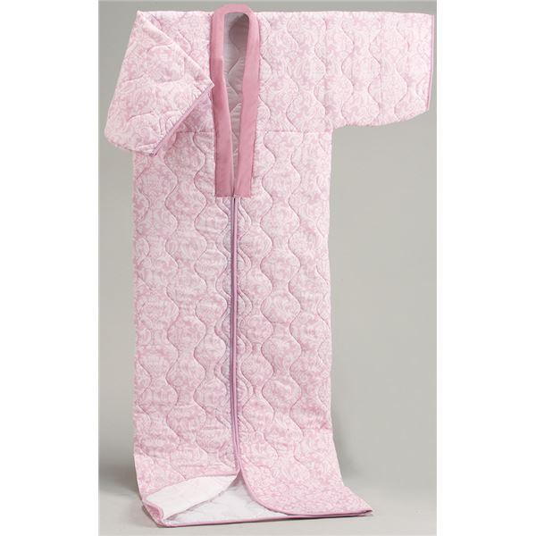 【日本製】国産かいまきふとんピンク系 シングル 綿100%ガーゼ【代引不可】