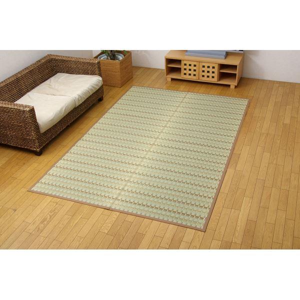 純国産 掛川織 い草カーペット 『宮之浦』 ベージュ 江戸間6畳(261×352cm)