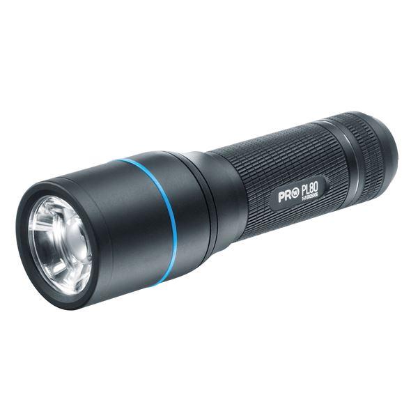 【送料無料】LEDフラッシュライト(懐中電灯) 防水 ビーム調整システム ワルサープロPL80