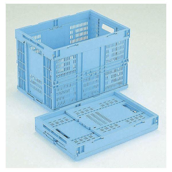 折りたたみメッシュコンテナ/オリコン 【60L/ブルー】 CB-M60W 岐阜プラスチック工業【代引不可】