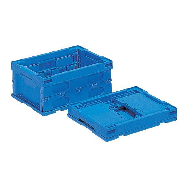 (業務用10個セット)三甲(サンコー) 折りたたみコンテナボックス/オリコン 【13L】 プラスチック製 P14B ブルー(青) 【代引不可】