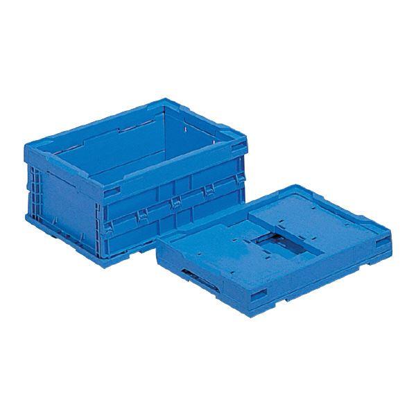 (業務用10個セット)三甲(サンコー) 折りたたみコンテナボックス/オリコン 【13L】 プラスチック製 P14B-D ブルー(青) 【代引不可】
