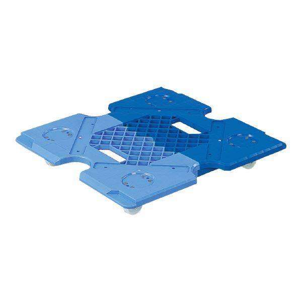 (業務用5個セット)三甲(サンコー) 台車/荷車 サンキャリー P-P ブルー×ライトブルー(青) 青