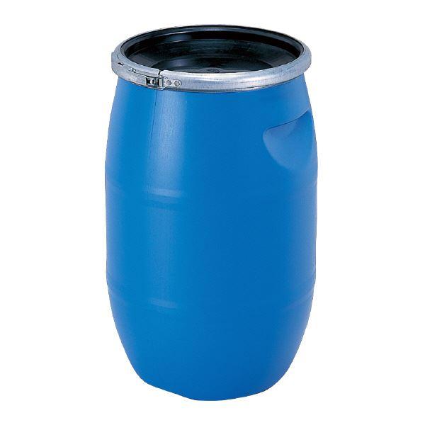 (業務用2個セット)三甲(サンコー) 液体輸送用プラスチックドラム 【オープンタイプ】 PDO 30L-1 ブルー(青) 青