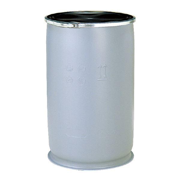 (業務用2個セット)三甲(サンコー) 液体輸送用プラスチックドラム 【オープンタイプ】 PDO 110L-TSP UN認定 グレー(灰)