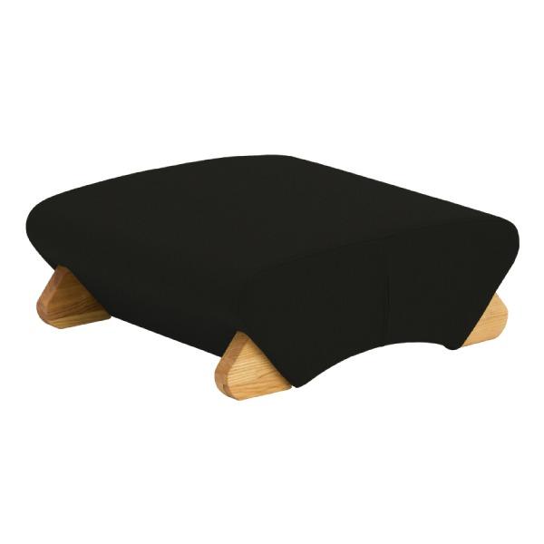 デザイン座椅子 (イス チェア) 脚:クリア/布:ブラック 【Mona.Dee モナディー】WAS-F 黒