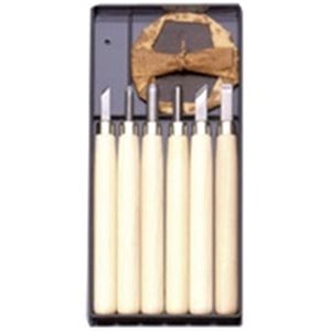 (業務用50セット) 義春刃物 マルイチ彫刻刀 R-6 プラケース6本組