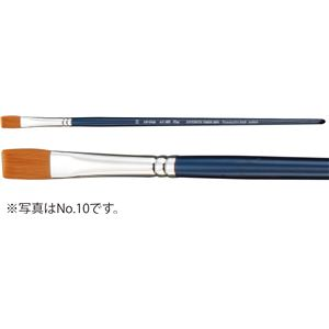 (まとめ) A&B アクリル用画筆(描画材/油彩画筆) フラット AC-SH 6 【×30セット】