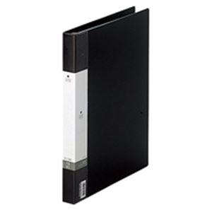 (業務用50セット) LIHITLAB クリアブック/クリアファイル リクエスト 【A4/タテ型】 差し替え式タイプ G3801-24 A4S黒