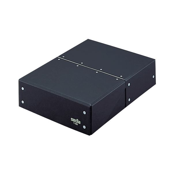 (まとめ) セキセイ デスクトレー・ボックスタイプ 黒 T-280クロ 1個 【×4セット】