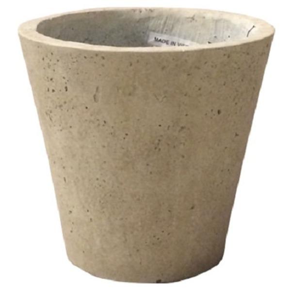 軽量コンクリート製 植木鉢/プランター 【クリーム 直径43cm】 底穴あり 『フォリオ ソリッド』