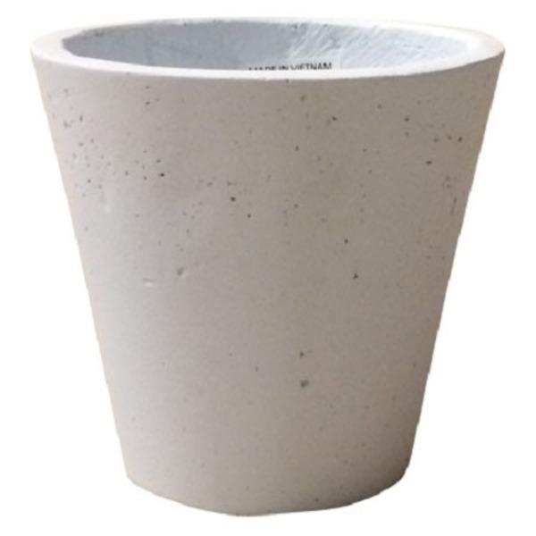 軽量コンクリート製 植木鉢/プランター 【ホワイト 直径43cm】 底穴あり 『フォリオ ソリッド』