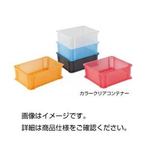 (まとめ)カラークリアコンテナ 910R レッドクリア【×5セット】 赤