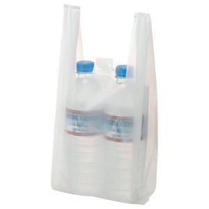 (まとめ) TANOSEE 乳白レジ袋 8号 ヨコ155×タテ330×マチ幅95mm 1パック(100枚) 【×50セット】