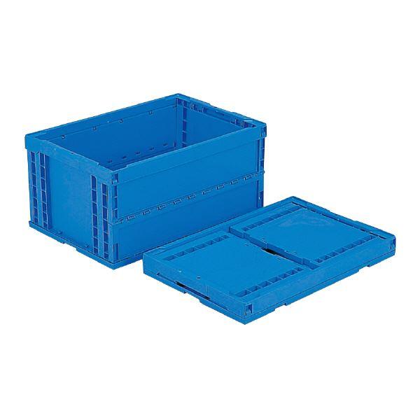 (業務用5個セット)三甲(サンコー) 折りたたみコンテナボックス/オリコン 【76L】 P75B-S ブルー(青) 【フタ別売り】【代引不可】
