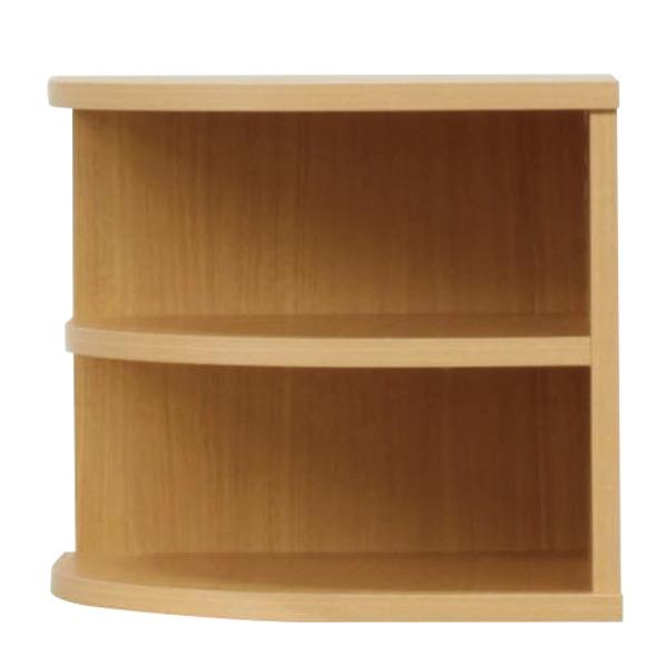 オープンエンド/オープンシェルフ 【2段/幅43cm】 木製(天然木) 日本製 ナチュラル 【完成品 開梱設置】