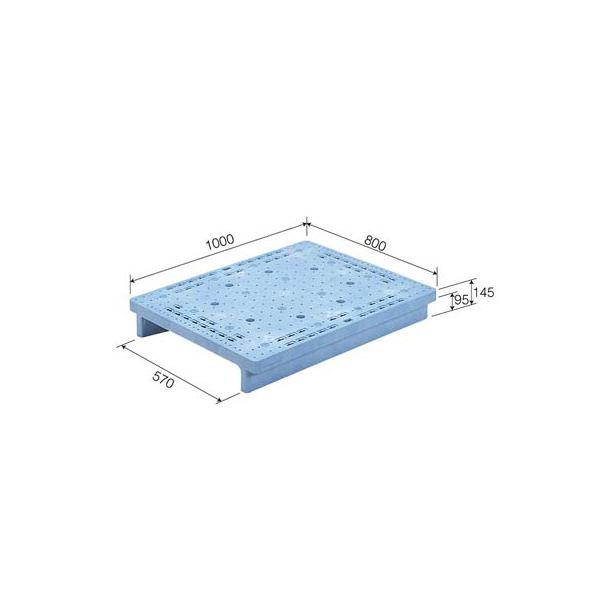 三甲(サンコー) プラスチックパレット/プラパレ 【単面型】 S2-810F ライトブルー(青)【代引不可】