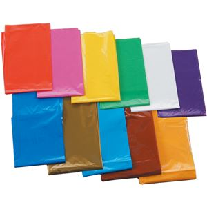(まとめ) ブルー(青) カラービニール袋(10枚組) 【×15セット】 青