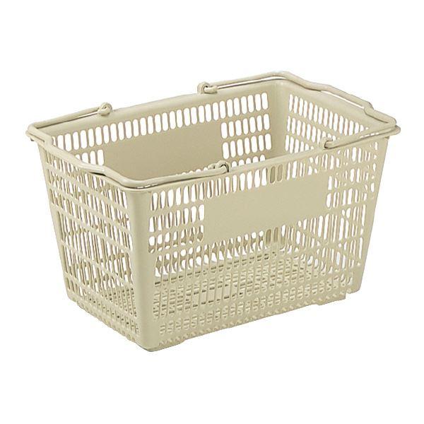 (業務用25個セット)三甲(サンコー) サンショップカーゴ/買い物かご 【31L】 プラスチック製 把手付き Aグレー(灰)
