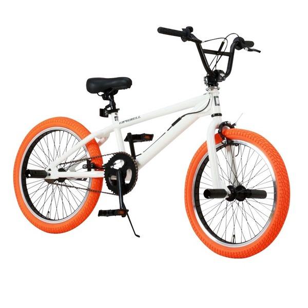 BMX 20インチ/ホワイト(白)&オレンジ 重さ/14.4kg 【Raychell】 レイチェル BM-20R 白