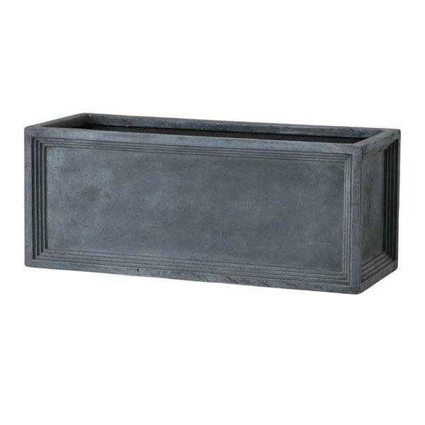 軽量植木鉢/プランター 【Pプランター型 グレー 幅65cm】 穴有 ファイバー製 『LLブリティッシュ』