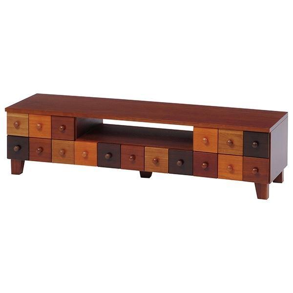 テレビ台/テレビボード TVボード 【幅122cm】 木製 引き出し整理 収納付き 『ブラウニーシリーズ』 【完成品】