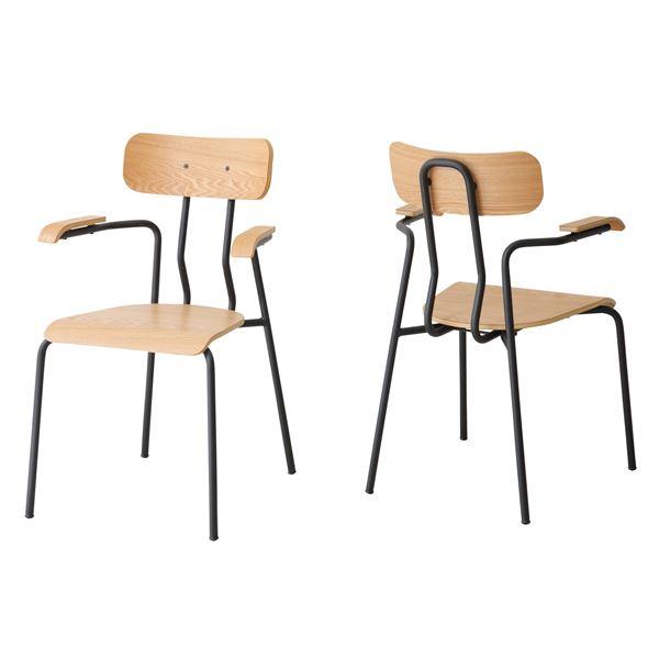 あずま工芸 アームチェア (イス 椅子) 幅54.5cm 【2脚入り】 TDC-9536