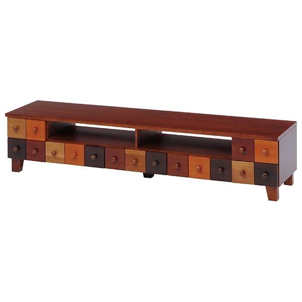 テレビ台/テレビボード TVボード 【幅144cm】 木製 引き出し整理 収納付き 『ブラウニーシリーズ』 【完成品】