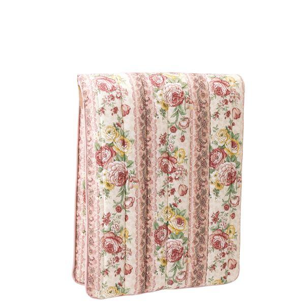 少し小さな軽量3層ボリューム敷布団 【ピンク】 シングル 幅70cm 重さ2.5kg 日本製 国産 綿 ポリエステル製 〔寝室 ベッドルーム〕