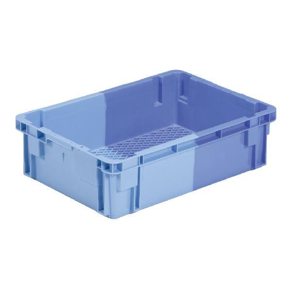 (業務用5個セット)三甲(サンコー) SNコンテナ/2色コンテナボックス 【Cタイプ】 #33F-2 ブルー×ライトブルー【代引不可】